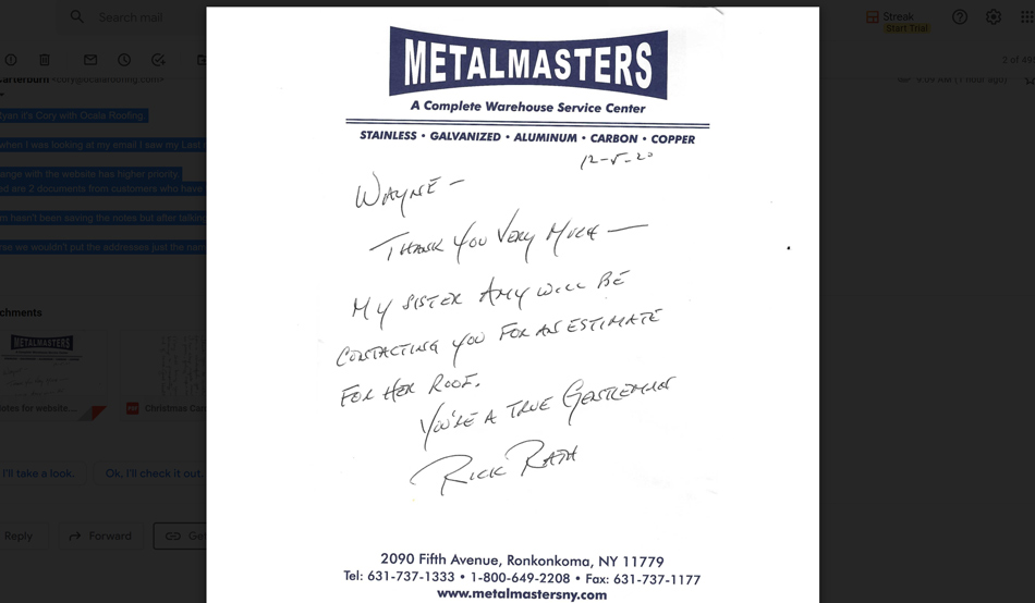 Testimonial from Rick Rath